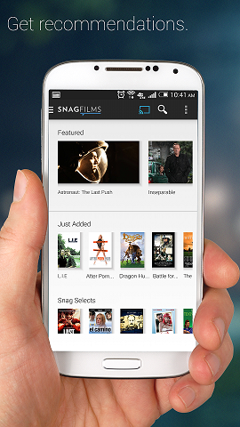 Snagfilms Android Free Movies App Feature screenshot