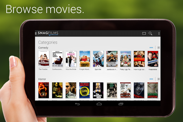 free movie app for Android tablets